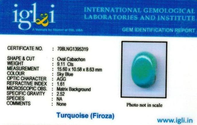 10.25-ratti-certified-turquoise-firoza-stone Certificate (ID-153)