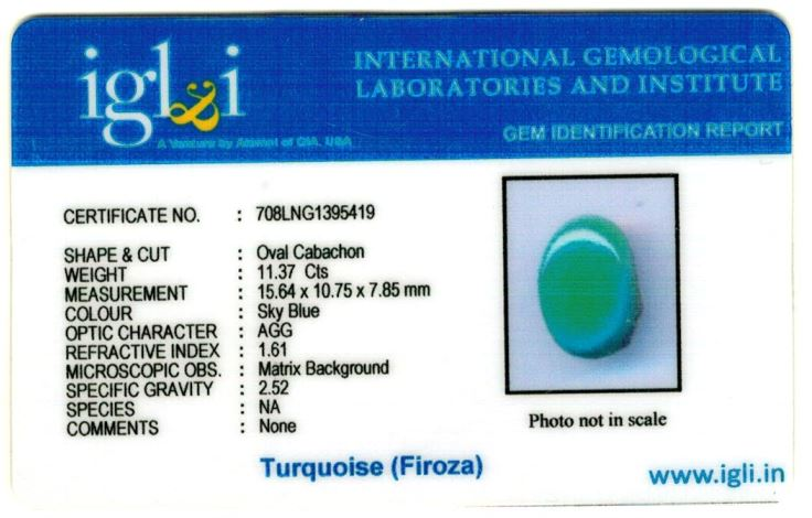 13-ratti-certified-turquoise-firoza-stone Certificate (ID-147)