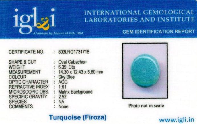 7.25-ratti-certified-turquoise-firoza-stone Certificate (ID-131)
