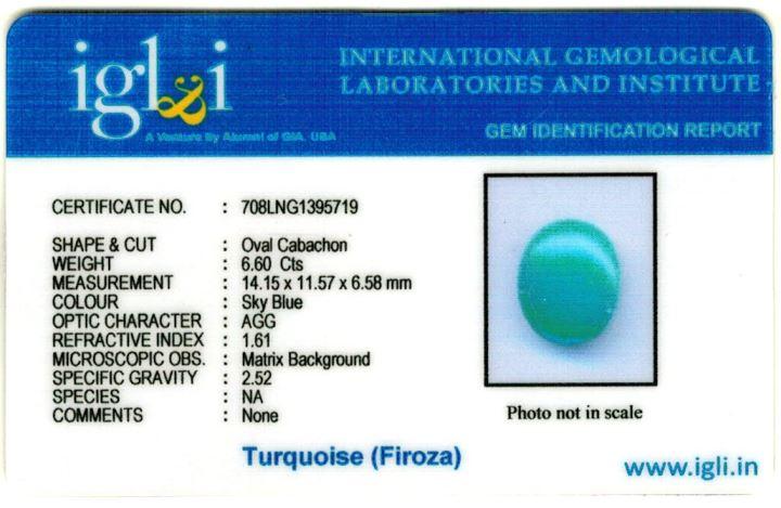 7.25-ratti-certified-turquoise-firoza-stone Certificate (ID-149)