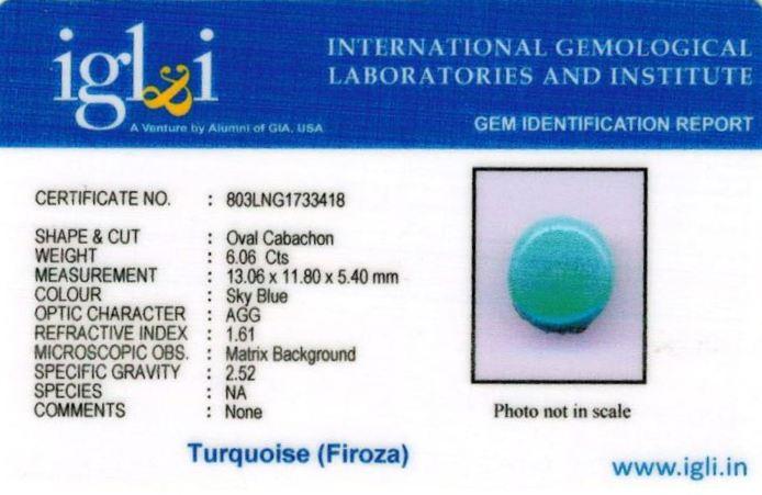 7-ratti-certified-turquoise-firoza-stone Certificate (ID-130)