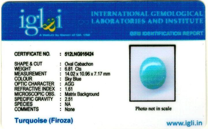 8-ratti-certified-turquoise-firoza-stone Certificate (ID-150)
