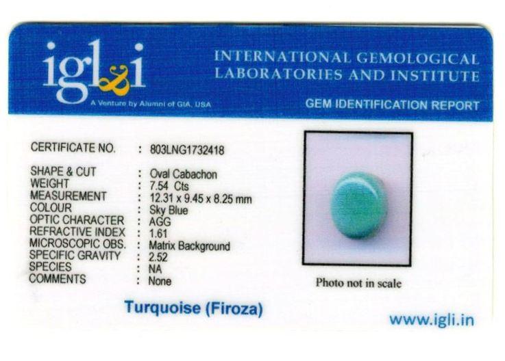8.25-ratti-certified-turquoise-firoza-stone Certificate (ID-132)