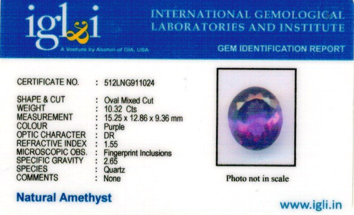 11.11-ratti-certified-amethyst-gemstone Certificate (ID-109)