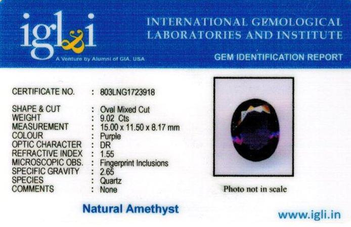 10.25-ratti-certified-amethyst-jamunia-stone Certificate (ID-153)