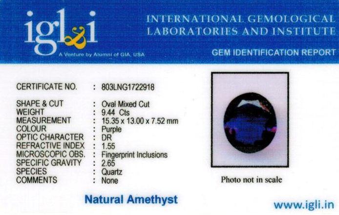 10.25-ratti-certified-amethyst-jamunia-stone Certificate (ID-154)