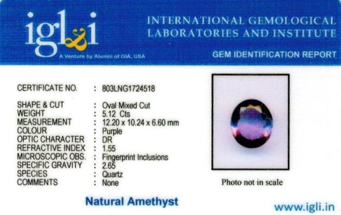 6-ratti-certified-amethyst-jamunia-stone Certificate (ID-127)
