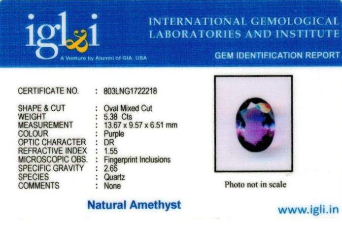 6-ratti-certified-amethyst-jamunia-stone Certificate (ID-130)