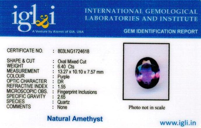 7.25-ratti-certified-amethyst-jamunia-stone Certificate (ID-139)