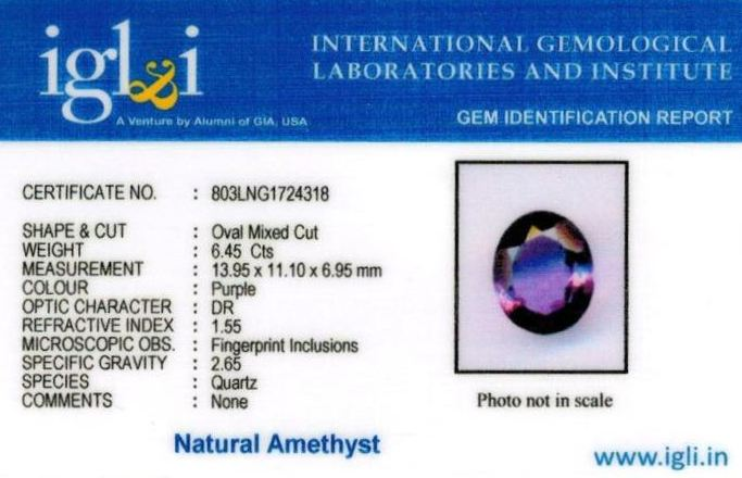 7.25-ratti-certified-amethyst-jamunia-stone Certificate (ID-141)
