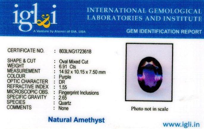 8-ratti-certified-amethyst-jamunia-stone Certificate (ID-145)