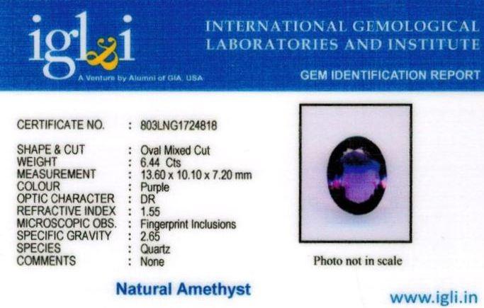 7.25-ratti-certified-amethyst-jamunia-stone Certificate (ID-140)