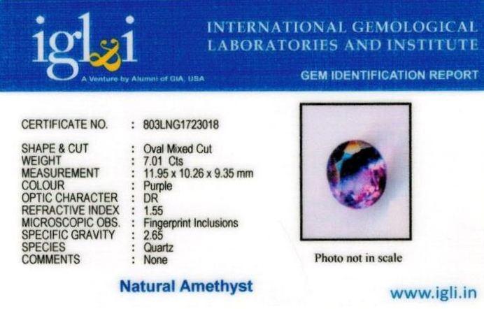 8-ratti-certified-amethyst-jamunia-stone Certificate (ID-147)