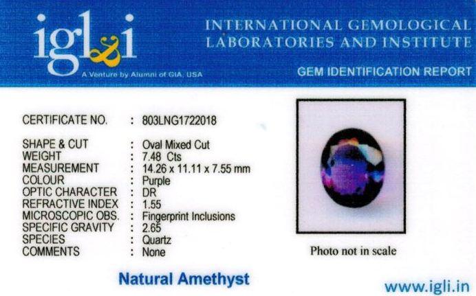 8.25-ratti-certified-amethyst-jamunia-stone Certificate (ID-149)