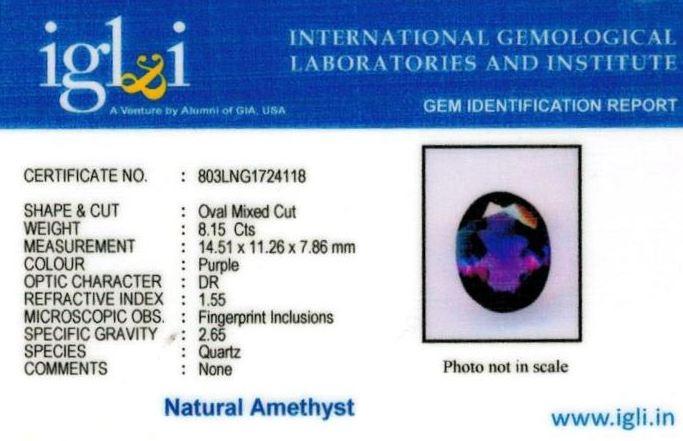 9.25-ratti-certified-amethyst-jamunia-stone Certificate (ID-151)
