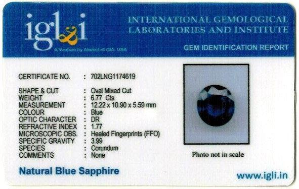 7.52-ratti-certified-blue-sapphire-gemstone Certificate (ID-343)