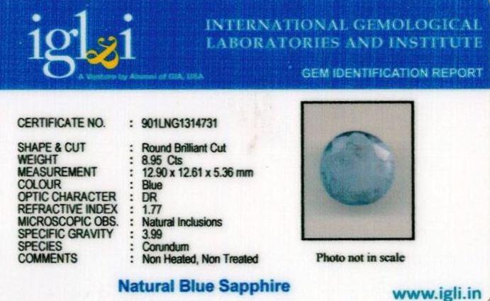 9.94-ratti-certified-blue-sapphire-stone Certificate (ID-366)