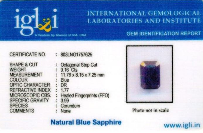 10.25-ratti-certified-blue-sapphire-stone Certificate (ID-395)