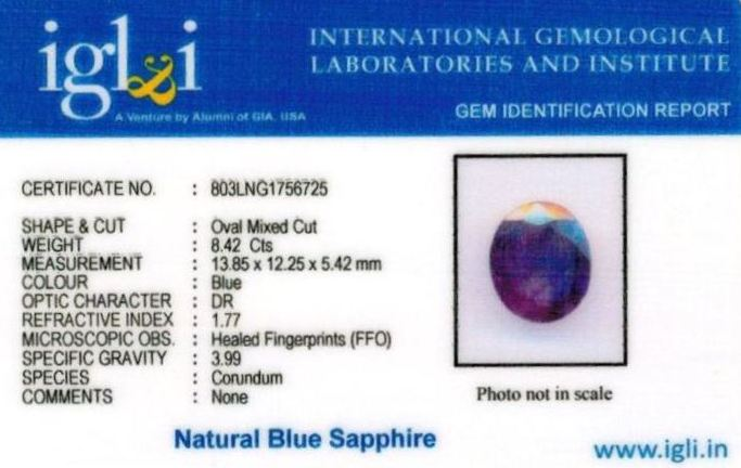 9.25-ratti-certified-blue-sapphire-stone Certificate (ID-393)
