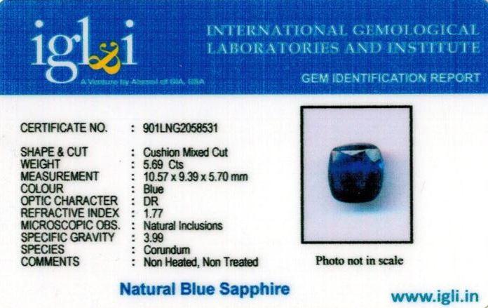 6.25-ratti-certified-blue-sapphire-stone Certificate (ID-398)