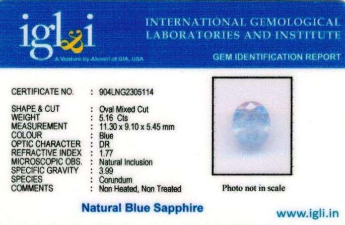 6-ratti-certified-srilankan-blue-sapphire Certificate (ID-411)