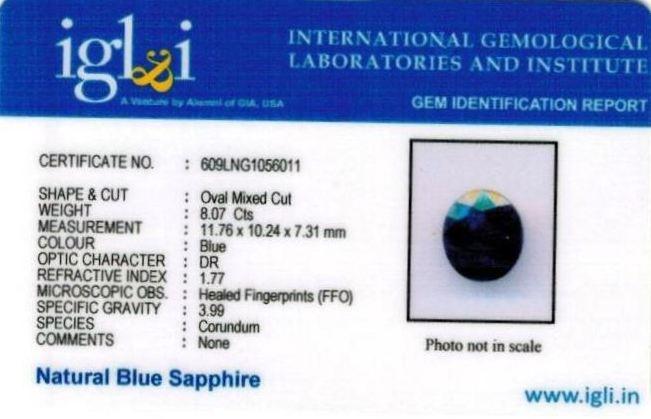 8.97-ratti-certified-blue-sapphire-gemstone Certificate (ID-324)