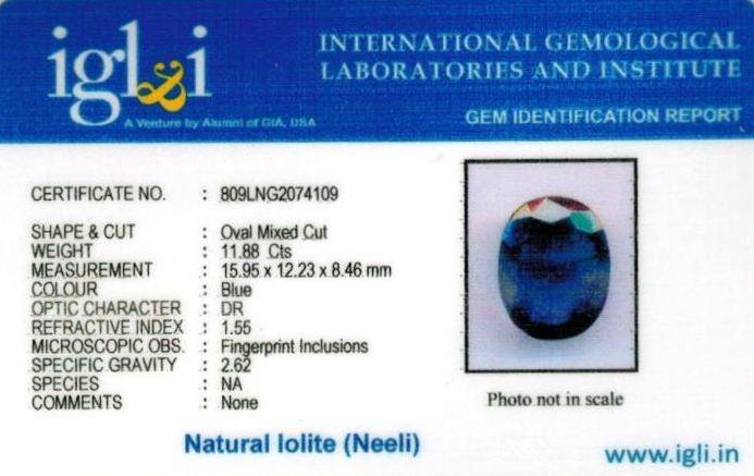 13.25-ratti-certified-iolite-neeli Certificate (ID-107)