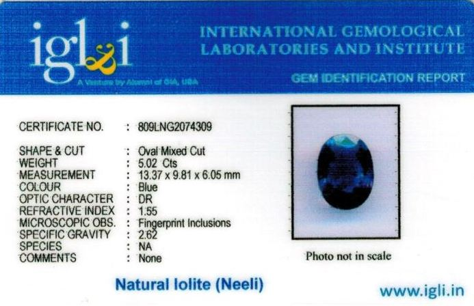 6-ratti-certified-iolite-neeli Certificate (ID-109)