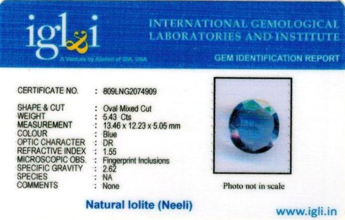 6.25-ratti-certified-iolite-neeli Certificate (ID-111)