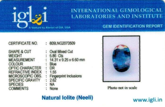 7-ratti-certified-iolite-neeli Certificate (ID-113)