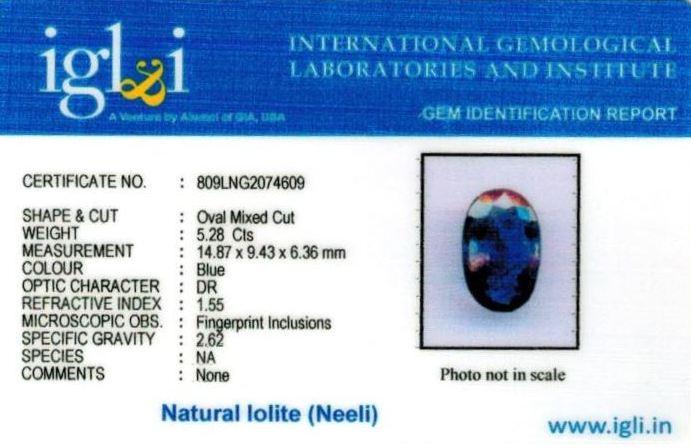 6-ratti-certified-iolite-neeli Certificate (ID-110)