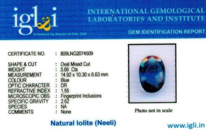6.25-ratti-certified-iolite-neeli Certificate (ID-112)