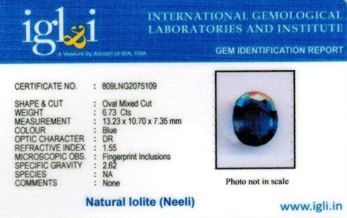7.25-ratti-certified-iolite-neeli Certificate (ID-119)
