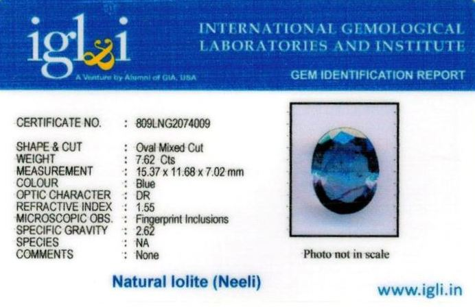 8.25-ratti-certified-iolite-neeli Certificate (ID-122)