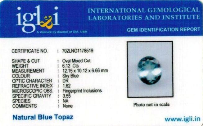 6.8-ratti-certified-blue-topaz-stone Certificate (ID-105)