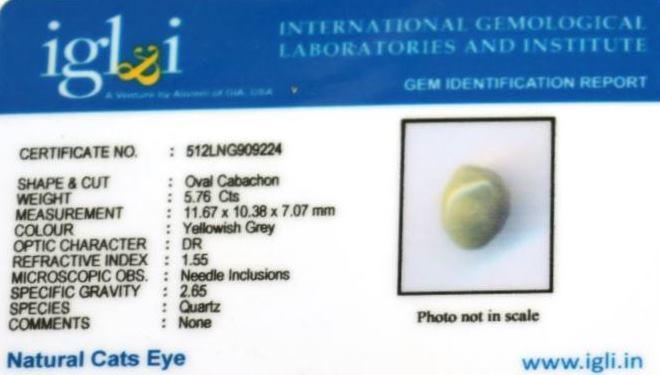6.4-ratti-certified-catseye-stone Certificate (ID-113)