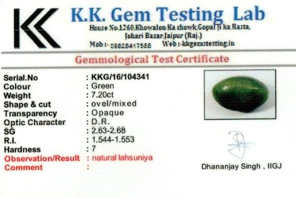 8.25-ratti-certified-catseye-stone Certificate (ID-145)