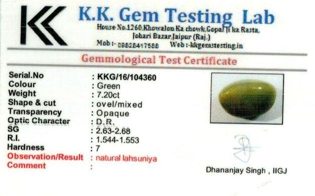 8.25-ratti-certified-catseye-stone Certificate (ID-144)