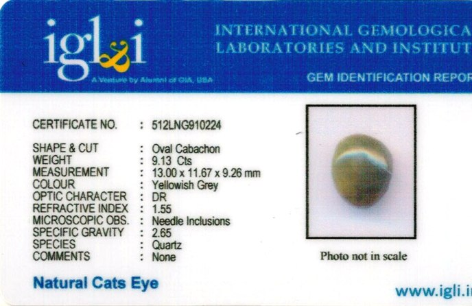 10-ratti-certified-cateye-gemstone Certificate (ID-105)