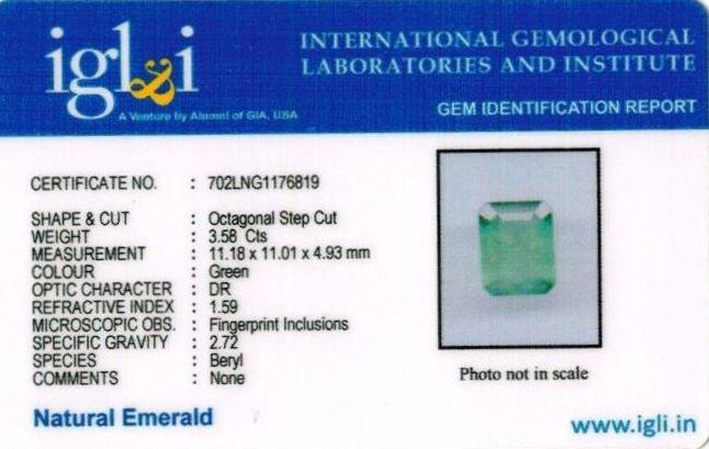 3.98-ratti-certified-emerald-gemstone Certificate (ID-339)