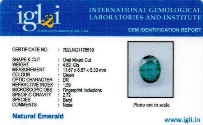 5.36-ratti-certified-emerald-gemstone Certificate (ID-344)