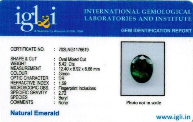 6.02-ratti-certified-emerald-gemstone Certificate (ID-345)