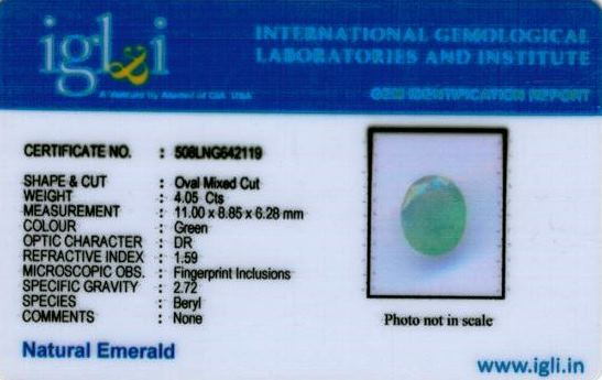 4.25-ratti-certified-emerald Certificate (ID-466)