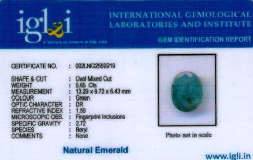 6.25-ratti-certified-emerald Certificate (ID-467)