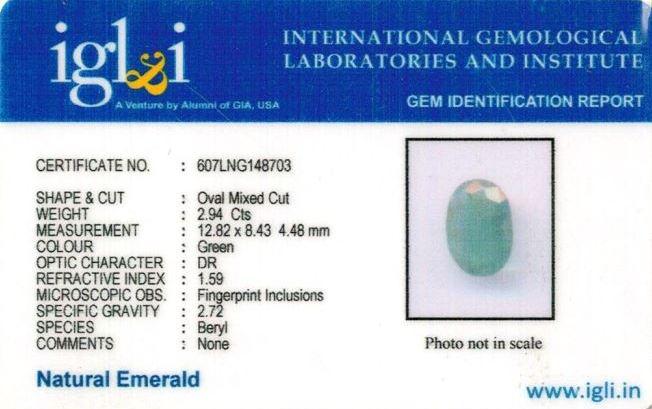 3.27-ratti-certified-emerald-gemstone Certificate (ID-321)