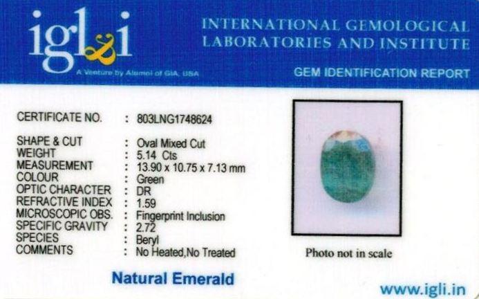 6-ratti-certified-emerald-gemstone Certificate (ID-372)
