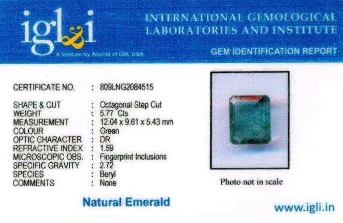 6.25-ratti-certified-emerald-gemstone Certificate (ID-374)