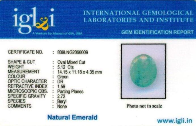 6-ratti-certified-emerald Certificate (ID-383)