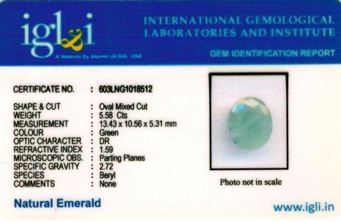 6.25-ratti-certified-emerald Certificate (ID-387)