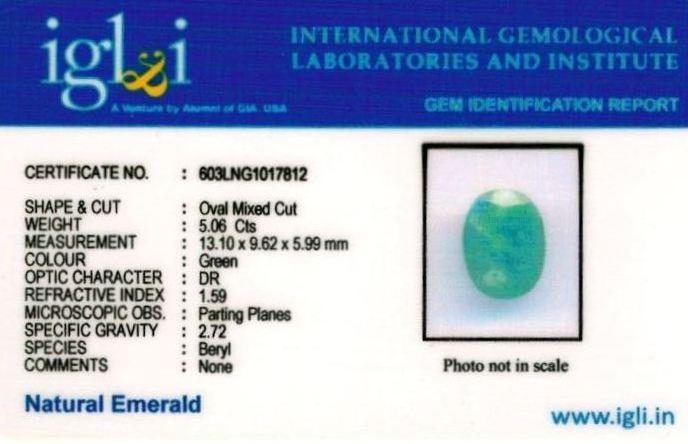 6-ratti-certified-emerald Certificate (ID-382)